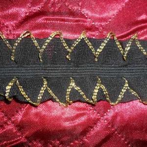 Рюша на резинке черная с золотой каплей