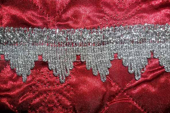 Тесьма № 6 серебро корона большая