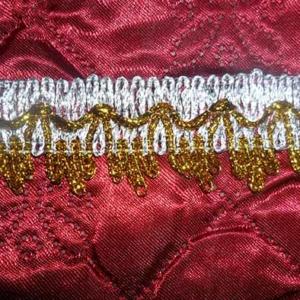 Тесьма № 9 серебро корона малая золотая