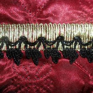 Тесьма № 11 золото корона малая черная