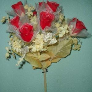 Букет невесты из роз цветной 11 голов (уп. 1 шт)