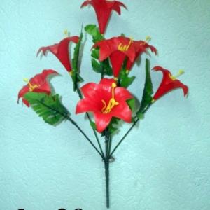 Лилия пластиковая 7 голов (уп. 5 шт.)