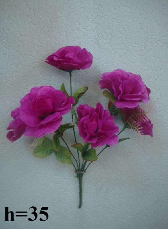 Букет шиповник-роза 7 голов