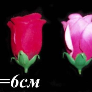 Бутон бархатный цветной (уп. 20 шт.)